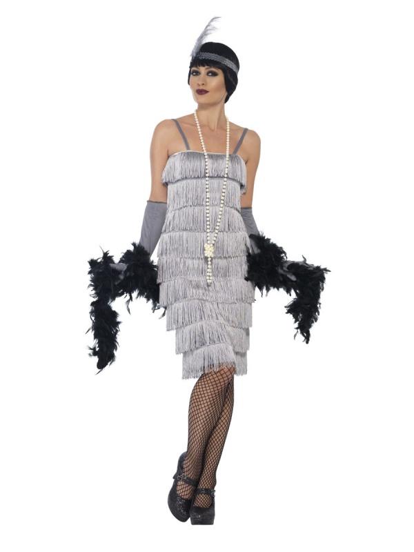 4549d5e99 Strieborné strapcové šaty Prohibícia - Party-Store.sk