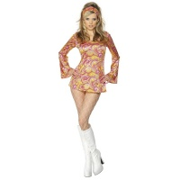 Kostým pre ženy - 60. roky-ružový 78526084c77