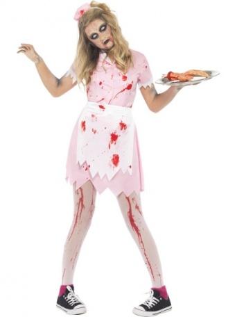 85a586369 E-shop > Karnevalové kostýmy > Kostýmy pre deti > Halloween a strašidlá >  Detský kostým pre dievča - Zombie servírka