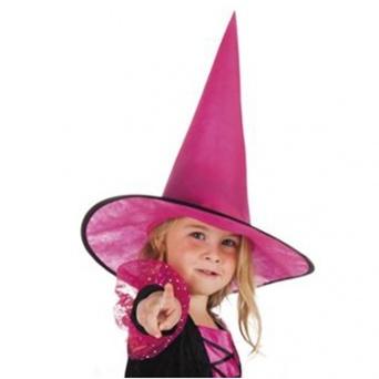 8ebfa195a Detský čarodejnícky klobúk - ružový - Party-Store.sk