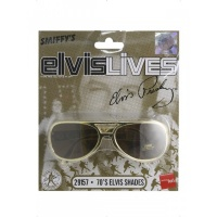 ae9716473 Okuliare - Elvis, farba zlatá