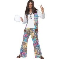 f99edd029089 Kostým Hippie - pánsky modrý
